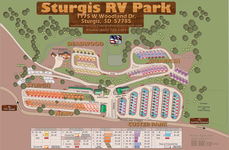 Sturgis RV Park Map